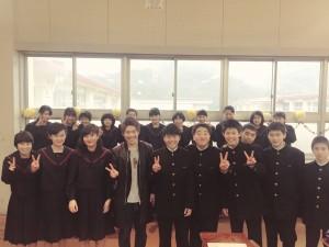 職業講話 in 長与中学校